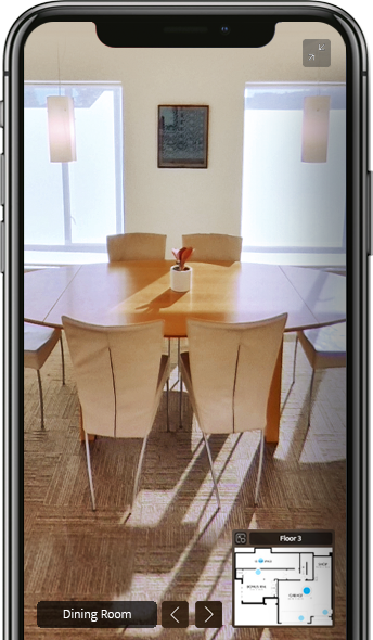 Phone with RICOH360 Tours app image